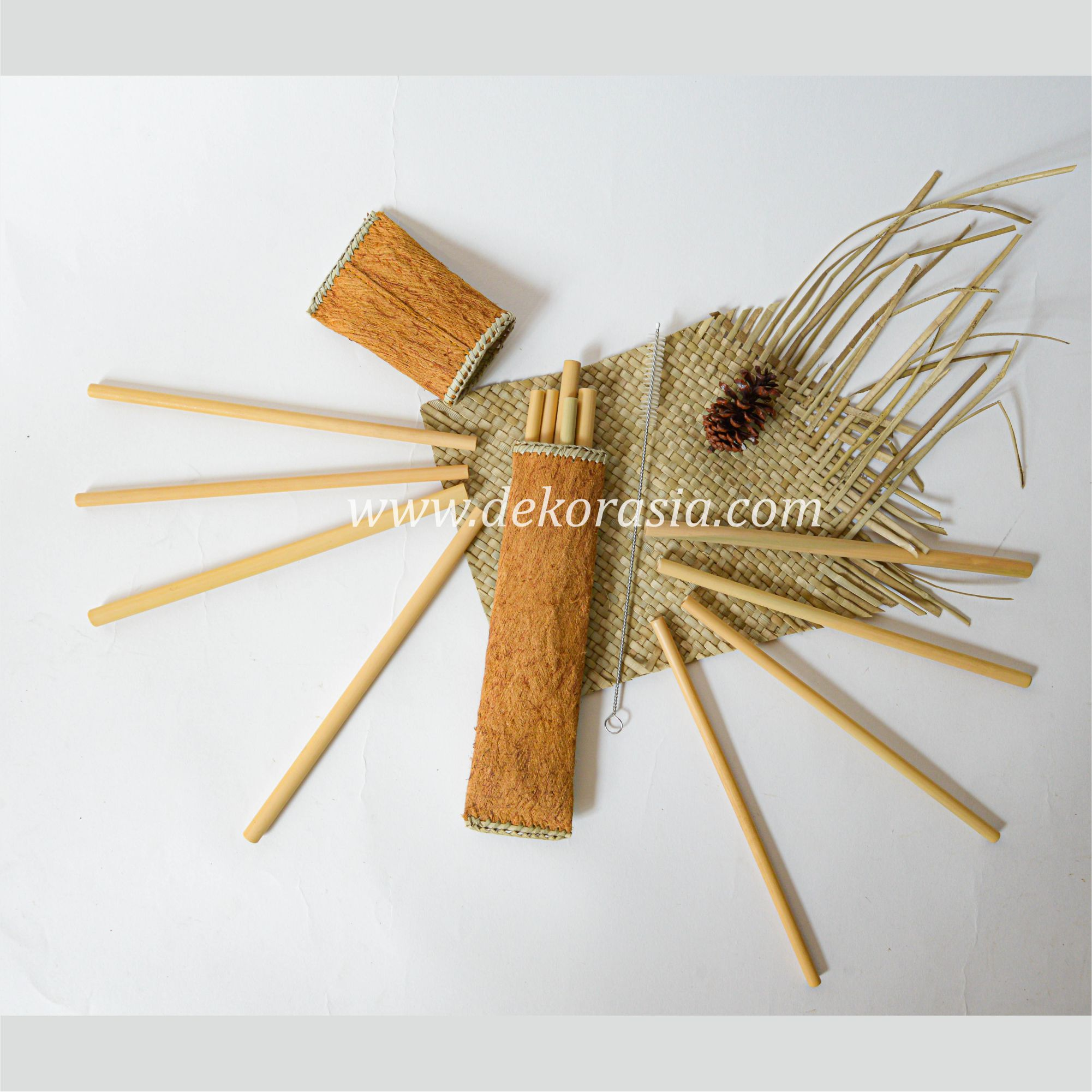 Bamboo Straw Set with Flip Oval Type B Package